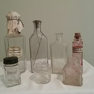 Vintage bottles lot of 7
